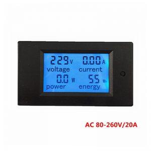Voltage Current Power Wattmeter Energy meter Gauge AC 80-260V/20A voltmeter Amp