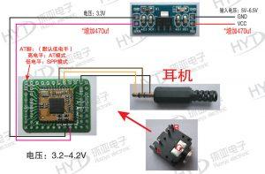 RDA5851S 2.1 Bluetooth audio module connection