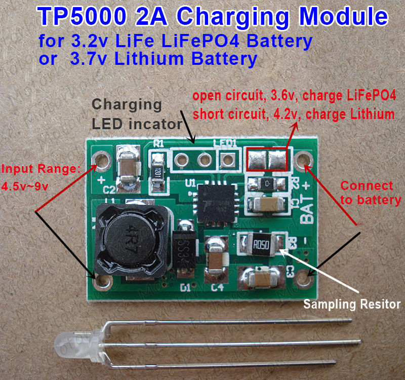 Tp5000 4 2v 3 6v 1a Lithium Battery Charging Board Charger